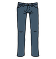 the funny blue jeans vector image vector image