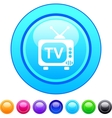 TV circle button vector image