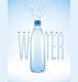 water bottle with water drops vector image