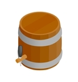 Wooden barrel isometric 3d icon vector image vector image