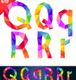 Colorful font of patches vector image
