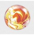Transparent light bulb sphere background vector image