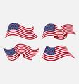 flowing flat american flag vector image