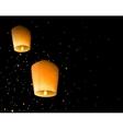 Sky lanterns vector image