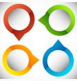 4-step circular presentation infographics element vector image vector image