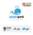aqua water park or swimming pool logo concept vector image
