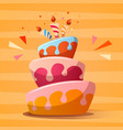 birth day template cute vector image vector image