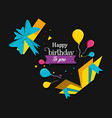 birthday explosive gift with balloons air vector image vector image