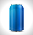 Blue aluminum can vector image vector image