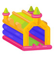 bouncy castle icon bright playing outdoor system vector image vector image