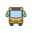 bus flat icon sign symbol vector image