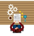 business person working in the office vector image