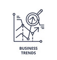 business trends line icon concept business trends vector image