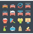 Car wash auto cleaner washer shower service icons vector image vector image