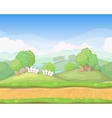 Cartoon cute country seamless horizontal vector image vector image