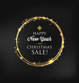 celebrating happy new year template vector image