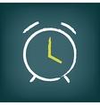 Chalk alarm clock vector image