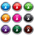 champion medal set 9 collection vector image vector image