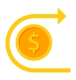 chargeback and refund icon vector image vector image