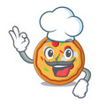 chef pizza character cartoon style vector image vector image