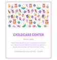 childcare center banner template with cute baby vector image