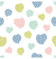 childish seamless pattern with hearts creative vector image vector image