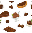 chocolate and cocoa butter on bread slice products vector image