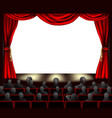 cinema with audience vector image