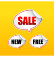 Collection of sale free new tag speech bubble vector image vector image