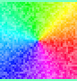 colorful background with pixel rainbow gradient vector image vector image