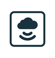 connect cloud icon Rounded squares button vector image vector image