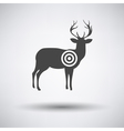 Deer silhouette with target vector image