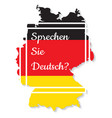 do you speak german vector image vector image