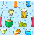 drink various style pattern collection vector image vector image