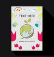 eco card with earth and geometric shape vector image vector image