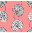 elegant seamless vintage pattern leafs vector image vector image