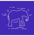Elephant Line Icon vector image