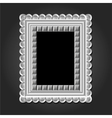 frame in white color for your design vector image