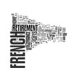 french retirement gifts text background word vector image vector image