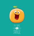 funny cartoon cute orange character vector image