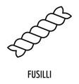 fusilli pasta icon outline style vector image vector image