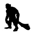 giant person silhouette monster villain fantasy vector image vector image