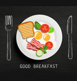 good breakfast lettering vector image vector image