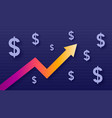 graph show value growth of dollar modern trendy vector image vector image
