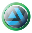 green and blue icon a artstation platform on vector image vector image