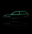 green silhouette of a car coupe vector image