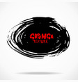 grunge ink round brush strokes freehand black vector image vector image