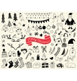 Hand draw collection of christmas doodle elements vector image vector image