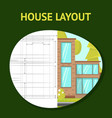 house layout flat banner template vector image vector image