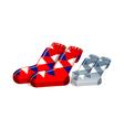 icon socks vector image